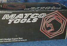 "ERTL/MATCO TOOLS ""AUTHENTICS"" 1971 DODGE HEMI SUPER BEE 1/18 YELLOW/BLACK"