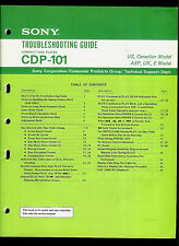 Disco Compacto Sony CDP-101 RM-101 reproductor de CD Orig fábrica guía de solución de problemas