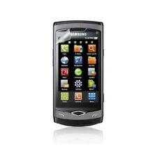 Cover Samsung Silicone S8500 Wave Black + Screen Protection Film