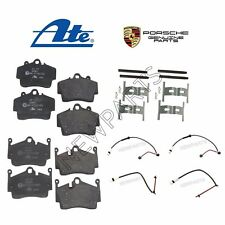 For Porsche Boxster Cayman Front & Rear Disc Brake Pads & Sensors & Hardware Kit