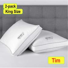 2020 BeautyRest Black Luxurious Down Alternative Pillows 400 Thread King 2 Pack