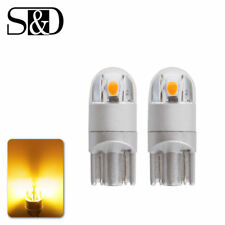 2X Amber Yellow T10 168 194 906 2SMD LED Interior Dome Map Parking Lights Bulbs