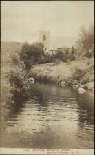 Bretton Woods NH Stickney Chapel c1910 Real Photo Postcard WHITE MTNS