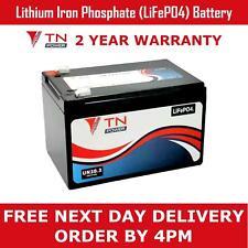 TN Power 12V 12Ah Lithium LiFePo4 Leisure Battery for Golf & Mobility, 2 Yr Wnty