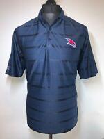 Antigua Atlanta Hawks Basketball Navy Blue Polo Shirt T-Shirt Top SMALL S VGC