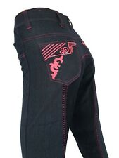 Ladies Denim Full Seat Suede Breeches  Sizes 8-24 *small sizing*