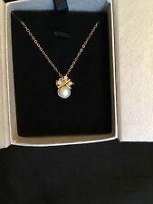 Pretty Laurence Tissier Perla Y Placa De Oro Colgante Collar-Con Caja #5880