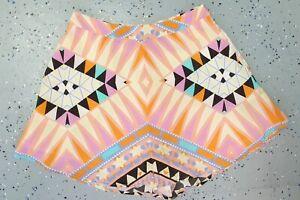 💜 KOOKAI Summer Silk Multicolor Shorts Size 34 Buy7=FreePost L885