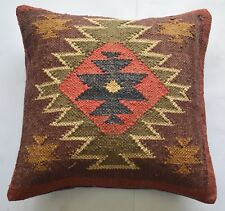 Jute & Wool Cushion Cover Boho Designer 45x45 Cm Cover
