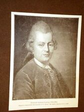 Gotthold Ephraim Lessing Kamenz 22 gennaio 1729 – Braunschweig 15 febbraio 1781