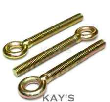 FORGED EYE BOLTS THREADED RINGS M6  RESIN CATENARY WIRE HANGING SCREWS  Qty 5