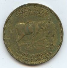Trade Token Green River Whiskey (#7505) One Side Brilliant and Other Toned.