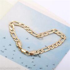 18K Yellow Gold Filled Figaro Chain Bracelet (B-261)