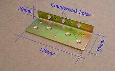 2 x resistente acciaio letto CONNETTERSI tavolo Angolo Staffe 120mm. viti non