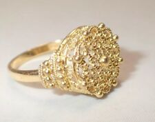 18K Yellow Gold Filigree Ring from India size 8 1/2