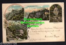 118484 AK Seelisberg Litho 1897 Rütli Hotel Sonnenberg Seeligberg Rütlistein