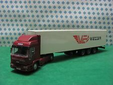 "CAMION IVECO Eurotech 2 assi Bilico Furgone ""VIEZZER"" -1/43 Old Cars Modificato"