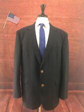 Arrow Men's Navy Blue Solid Blazer Sport Coat Suit Jacket 48R