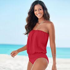 PLUS SIZE Womens Tankini Bikini Push Up Monokini Swimsuit Bathing Suit Swimwear