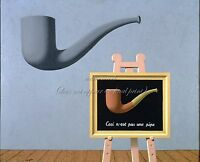 """RENE MAGRITTE Painting Photopaper or Canvas Print """"The Two Mysteries"""""""