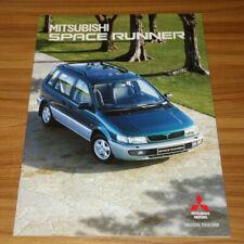 Catalogue MITSUBISHI SPACE RUNNER de 1998