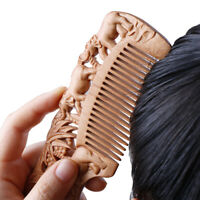 1X Wooden Comb Fine Tooth Handmade Hair Comb Anti Static Comb Hair Styling T~QA