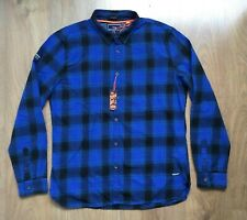 SUPERDRY ENGINEERED ROOKIE CLASSIC FIT CHECK FLANNEL MENS SHIRT SIZE 3XL BNWT