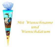 """Schultüte mit gold gefärbter Gravur Länge:35cm /""""Einhorn/"""" Zuckertüte rund"""