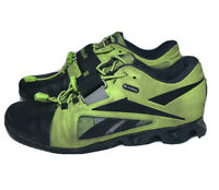 Reebok Mens CrossFit Lifter Green U Form Leather Weight Lifting Shoes Size 8.5