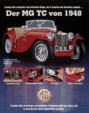 Franklin Mint Prospekt 1994 MG TC Mj. 1948 Modellautoprospekt Modellauto 1 Blatt
