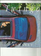 RENAULT TWINGO SALES BROCHURE 1996 FRENCH  LANGUAGE