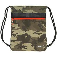 Nike CAMO Camouflage Olive Militia Green Cargo Black Backpack Sport Bag Gym Sack