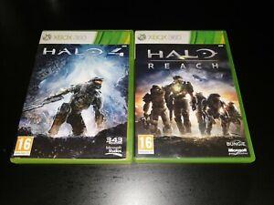 Halo 4 & Halo Reach Xbox 360 2 Game / Games Bundle Collection