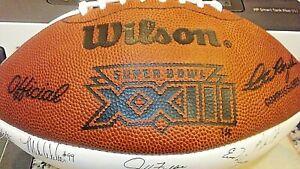 Official 49ers Super Bowl XXIII Wilson Football Team Autographs Two Tone Ball