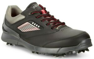 NEW Ecco Mens Base One HM GOLF Shoes, EU 41 US 7/7.5, BLACK/GRAY, $170