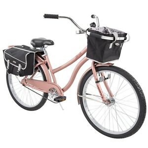 "Huffy 26"" Marietta Womens Comfort Cruiser Bike, Rose Gold Fast Free Shipping New"