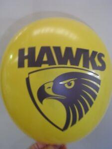 Hawks  AFL - Party Balloon - Football balloon - pkt of 25