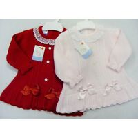 Spanish Baby Girl's Knitted Dress in Red and Pink - VB by Juliana