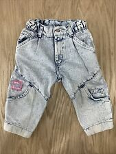 New listing Vintage 80s Little Levis Acid Wash Bubble Jeans Pink Tag Made Usa Girl 2t Floral
