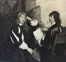 Engraving Etching 19th century - Portrait of Thomas Killigrew and Thomas Carew