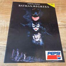 RARE Batman Regresa 1992 Batman Returns Mexico Spanish Pepsi Movie Promo Album
