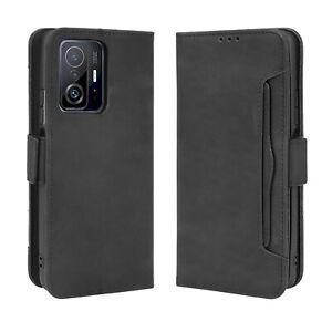 For Xiaomi Mi 11/11T Pro Wallet Purse Card Holder Slot Kickstand Shockproof Case