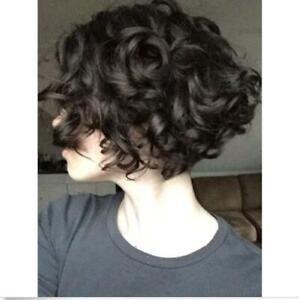 Synthetic Black Wigs for Women Spiral Curls Short Hair High Temperature Fiber