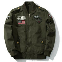 Military Men's Jackets Bomber Casual Air Force Coats Army Cotton Pilot Jackets