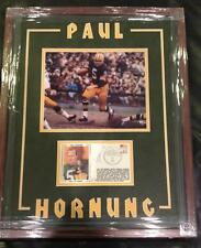 PAUL HORNUNG   PACKERS  SIGNED GATEWAY HOFER  DOUBLE MATTED FRAMED