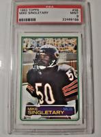 1983 Topps Mike Singletary RC #38 Graded PSA 9 Mint! Super Rare HOF 🔥🔥🔥