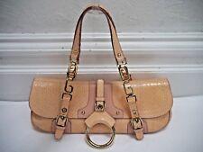 DOLCE & GABBANA pale pink snakeskin handbag with gold metal details