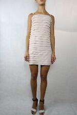 JIGSAW Cream Peach Tiered Dress Size 8