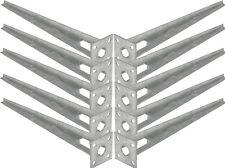 10 Stk. Bodenhülse Einschlaghülse Pfostenträger Ø 34 mm für Maschendrahtzaun