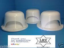 3 Roof Vent Cap for Rv, Motor Home or Trailer  Polar White Brand New.